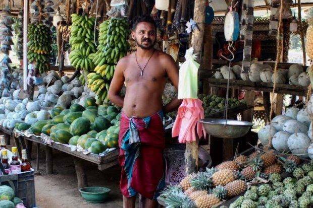 Fruit seller on Sri Lanka's South Coast