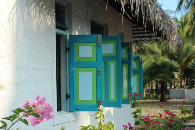 The Villa Kalpitiya window shutters