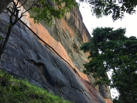 Iron walkway to Sigiriya Rock