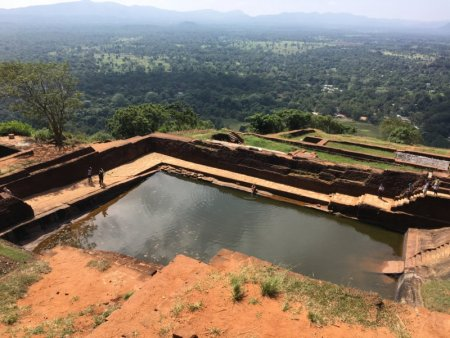 Pool on Sigiriya Rock