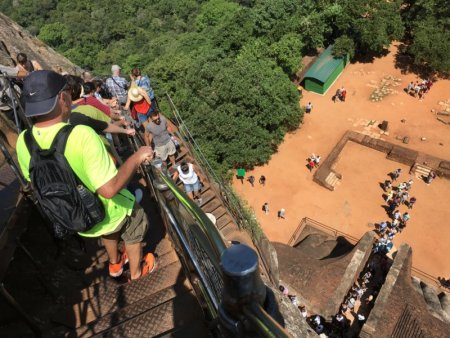 Walking down from Sigiriya Rock