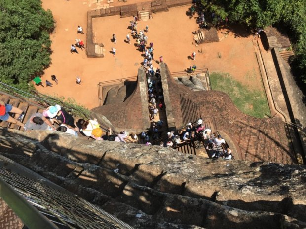 Way down from Sigiriya Rock