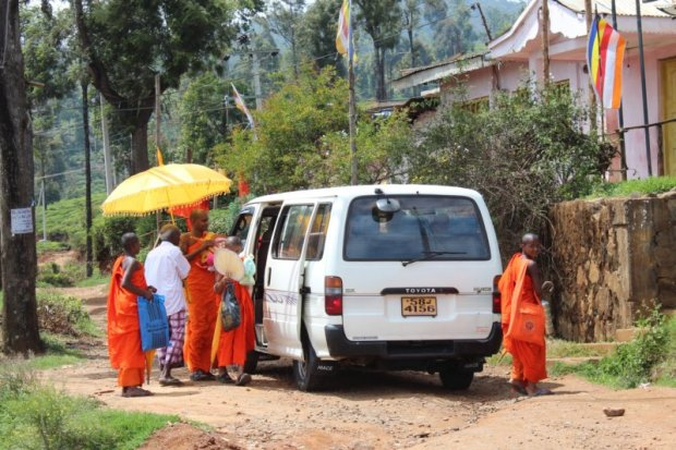 Buddhist monks, Sri Lanka tea country