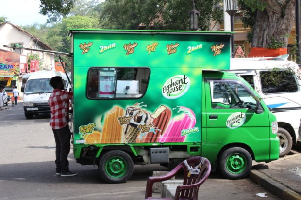 Ice cream seller in central Kandy