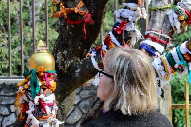 Nuwara Eliya sita temple prayer ribbons