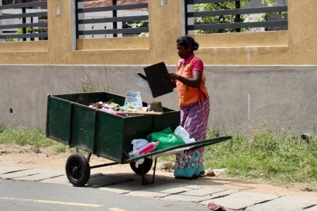 Woman at work, Sri Lanka's South Coast