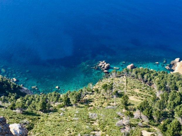Clear Mediterranean waters of Serra de Tramuntana