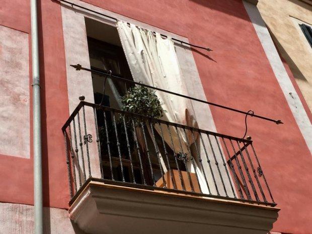 Palma de Mallorca old town balcony