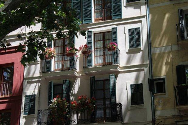 Balconies facing Passeig des Born