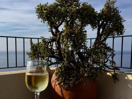 White wine with view, Banyalbufar