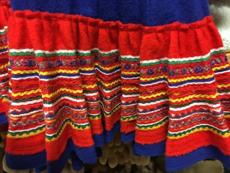 Fine details of a Sami dress