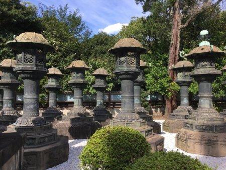 Ueno Park stone statues, Tokyo