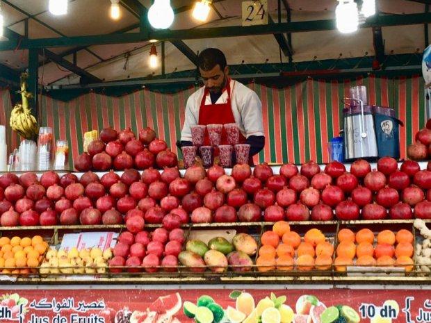 Jemaa el-Fna pomegranate seller