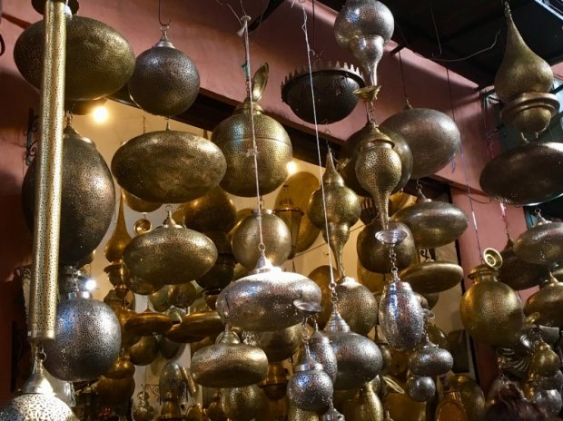 Moroccan brass lanterns for sale