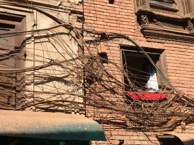 Electric cables in Bhaktapur Old Town