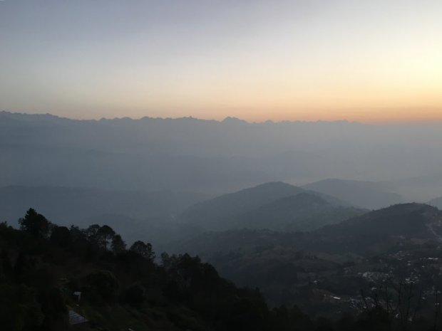 Travel in Nepal: waiting for the Himalaya sunrise