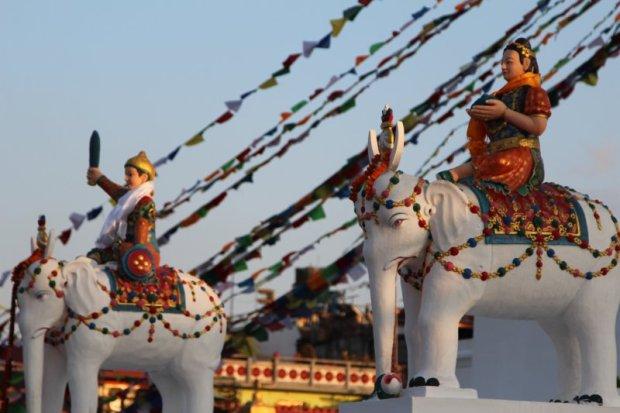 Boudanath temple elephants, Kathmandu