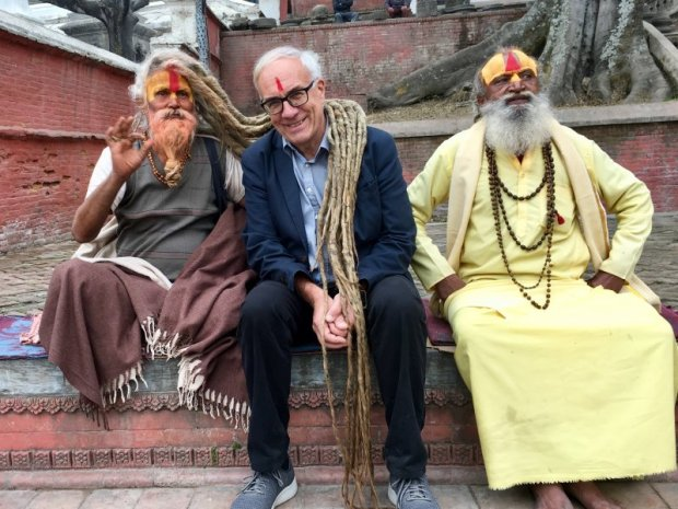 Blessed by the holy men of Pashpatinath Temple