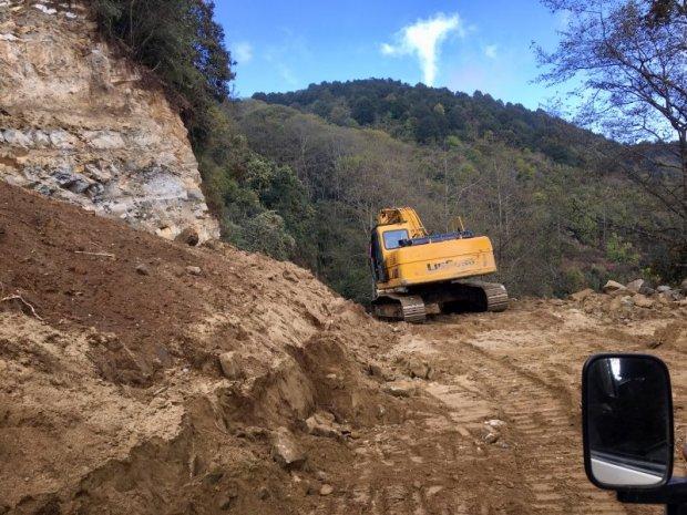 Landslide in Shivapuri Nagarjun National Park