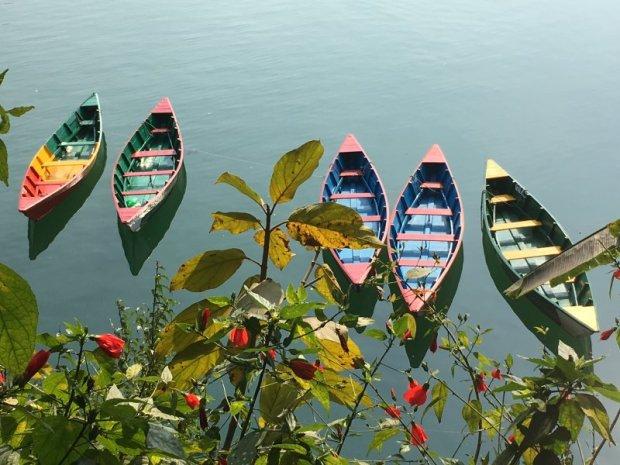 Pokhara lakeside rental boats