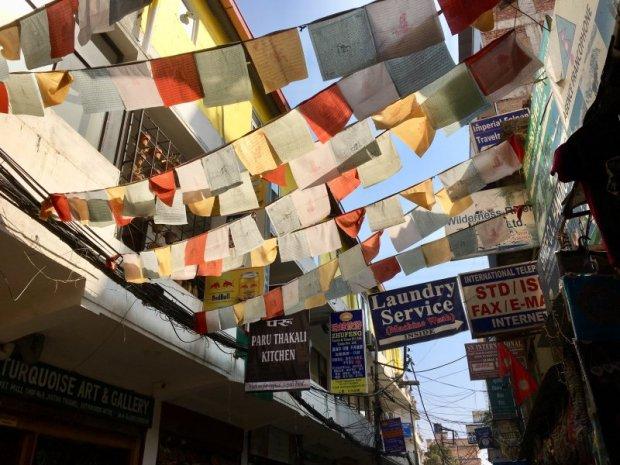 Prayer flags in Thamel, Kathmandu