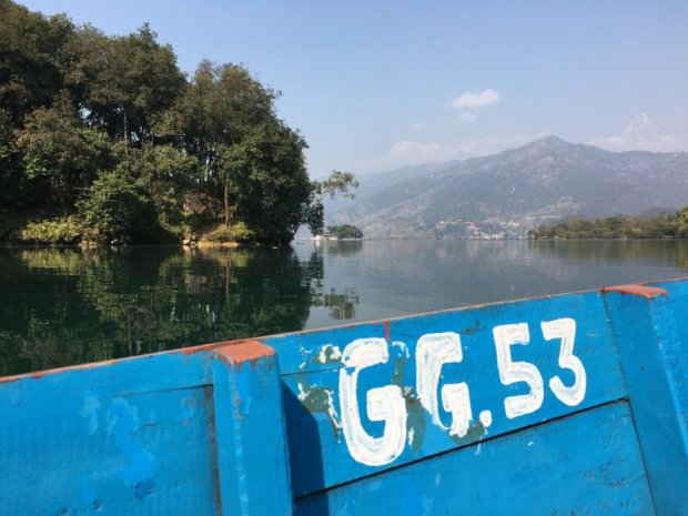 Reflections on Lake Phewa, Pokhara