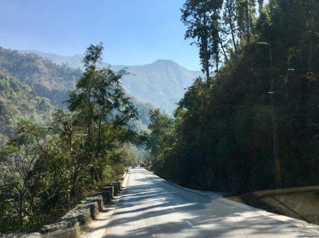 Road from Pokhara to Kathmandu