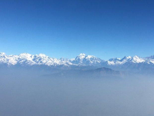 The Annapurna Massif from Kathmandu to Pokhara flight