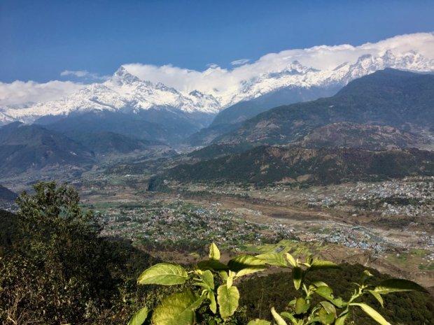 The Annapurna Range seen from Sarangkot