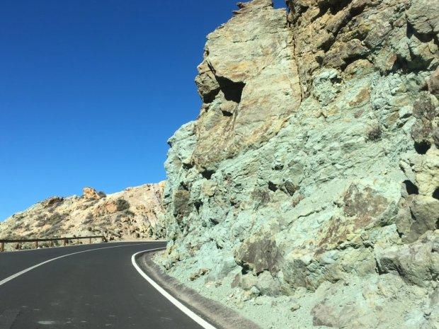 Green rock of Mount Teide National Park