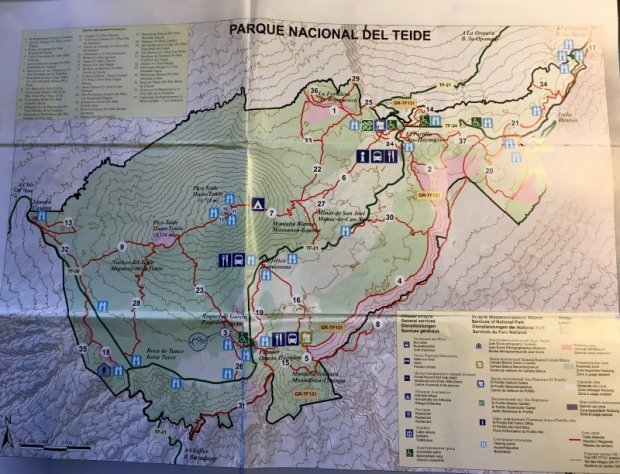 Map of Parque National del Teide
