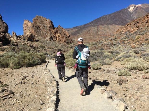 Roques de Garcia hike with children, Mount Teide