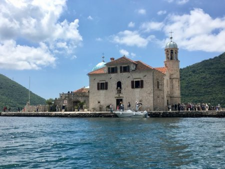 Boat trip to a Bay of Kotor island