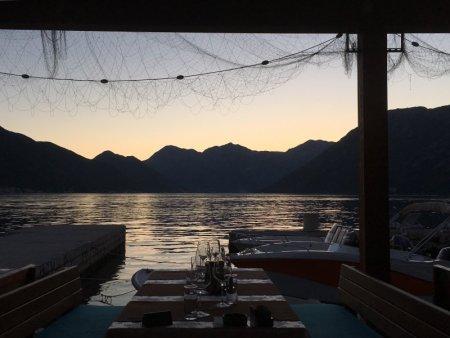 Kotor Bay seafood restaurant