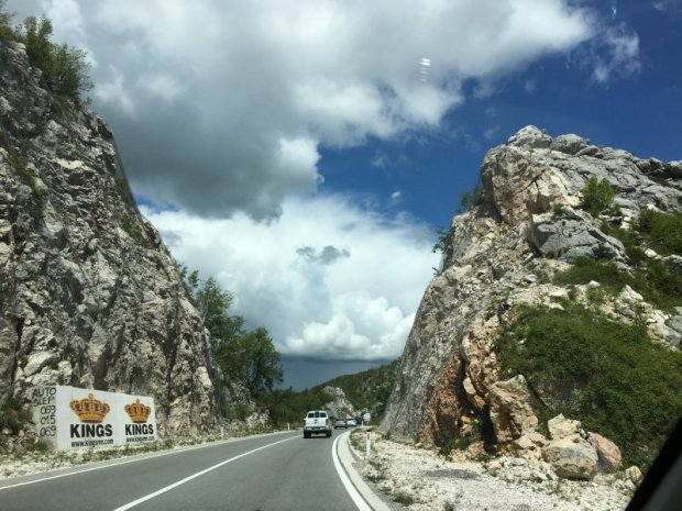 Driving from Budva to Cetinje