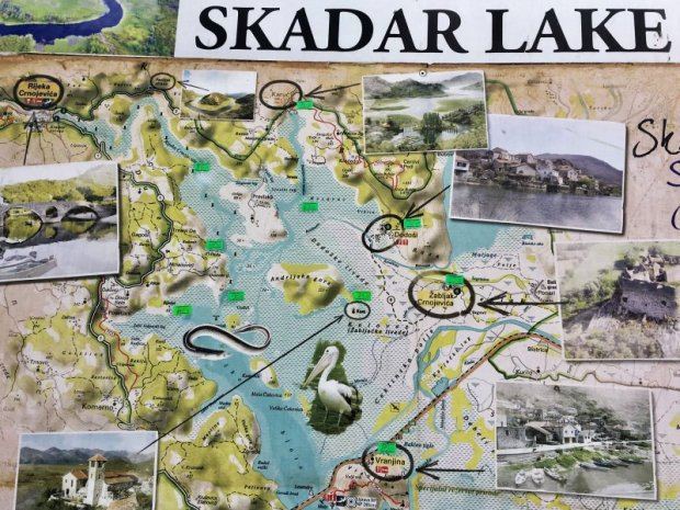Skadar Lake map
