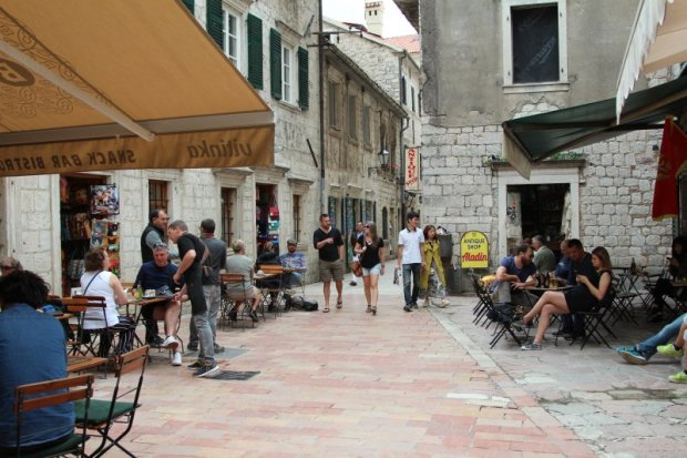 Strolling in the old town of Kotor, Montenegro