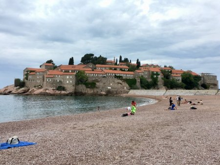 Sveti Stefan and its beach, Montenegro
