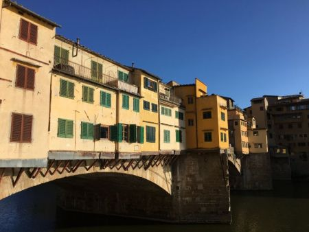 Italy by train and car: Ponte Vecchio, Florence
