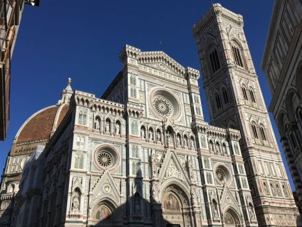 Italy by train and car: the cathedral of Florence, Tuscany