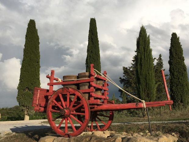 Italy by train and car, Val d'Orcia winery