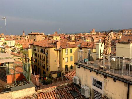 Bologna cityscape from Altana Bologna roof terrace