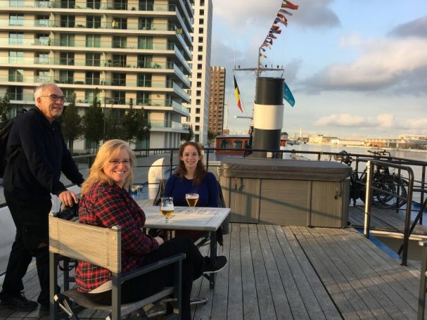 Belgium and Netherlands river cruising: on the deck