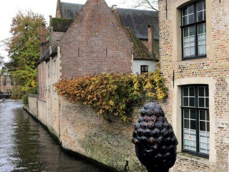 Bruges canalside view