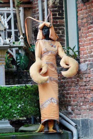 Canalside statue, Ghent, Belgium