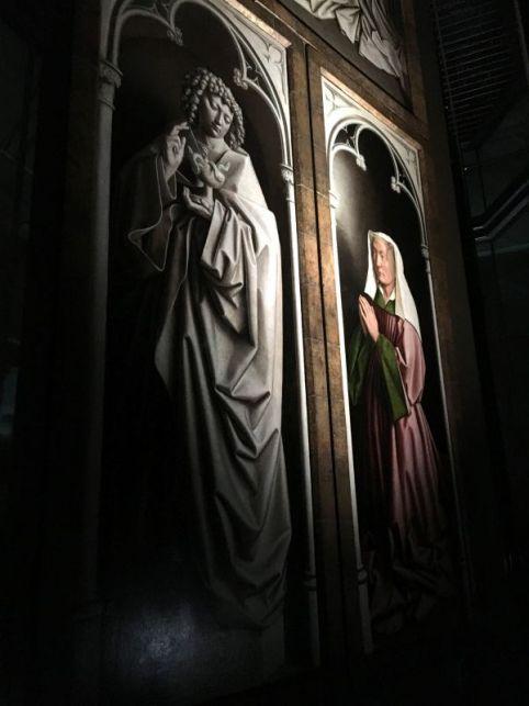 Oak panels of the Adoration of the Mystic Lamb, Ghent