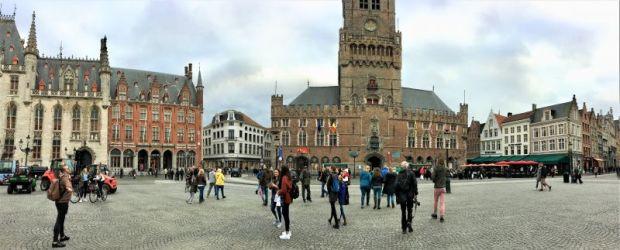 Bruges central square Markt