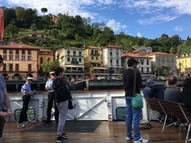 On a Lake Como ferry