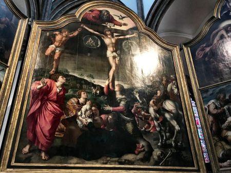 Rubens painting in Onze Lieve Vrouwekerk, Bruges
