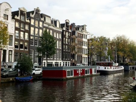 Amsterdam, city of canals and houseboats